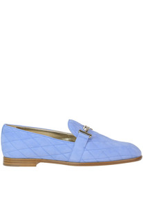 Quilted suede loafers Tod's