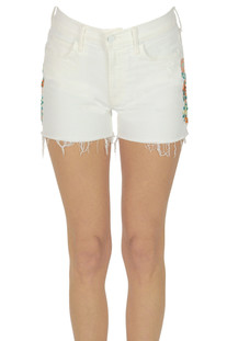 Embroidered denim shorts Mother