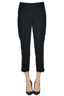Cropped crepè trousers Peserico