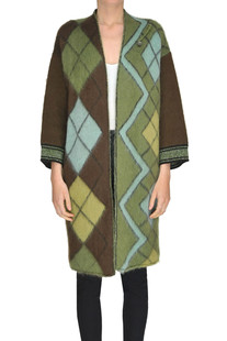 Printed mohair-blend coat Antonio Marras