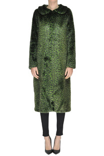Animal print eco-fur coat Shrimps