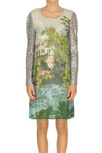 Printed crepè dress Antonio Marras