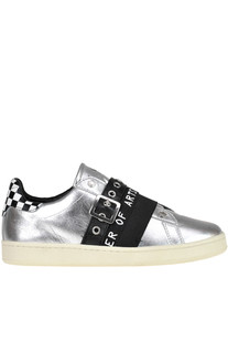 Metallic effect leather slip-on sneakers MOA Master of Arts