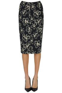 Printed cotton pencil skirt Aspesi