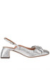 Metallic efftect leather slingback pumps L'Autre Chose