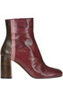 Reptile print leather ankle-boots Maliparmi