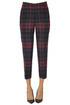 Checked print wool-blend trousers Gold Case