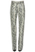 Reptile print eco-leather trousers MSGM