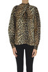 Animal print silk blouse Ganni