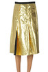 Metallic effect eco-leather skirt N.21