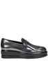 Metallic effect leather mocassins Hogan