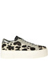 John animal print haircalf sneakers P448
