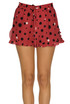 Printed silk shorts RED Valentino