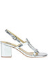 Metallic effect leather sandals Bibi Lou