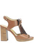 Fringed leather sandals Manas