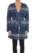 Checked print robe coat Dondup