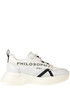 Techno fabric and leather sneakers PHILOSOPHY di Lorenzo Serafini