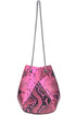 Mani Mini reptile print leather bucket bag The Volon