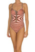 Optical print swimsuit Pin-up stars