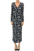 Printed jersey long dress M Missoni