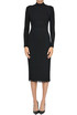 Turtleneck ribbed knit dress Cedric Charlier