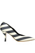 Striped satin pumps Dries Van Noten
