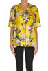 Flower print satin shirt F.R.S for Restless Sleepers