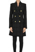 Checked print tweed coat W Les Femmes Babylon