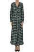 Checked print wrap dress Les Coyotes De Paris
