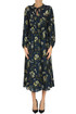 Flower print midi dress Sea