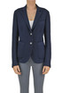 Cotton and linen piquet blazer Fabiana Filippi