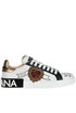 Embellished printed leather sneakers Dolce e Gabbana