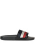Leather and canvas slides Moncler