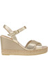Metallic effect leather wedge sandals Carmen Saiz