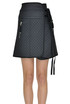Quilted mini skirt Diesel Black Gold
