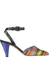 Striped satin sandals G Di G