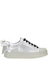 Metallic effect fabric sneakers Pinko