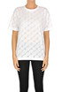 Cut-out designer logo t-shirt Stella McCartney