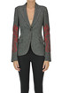 Herringbone blazer with embroidery Moschino Boutique