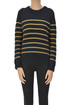 Striped ribbed knit pullover Twinset Milano