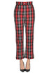 Checked print trousers MSGM