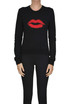Printed lips pullover Saint Laurent