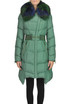 Quilted down jacket with fur collar Martylò