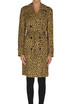 Animal print trench coat Dondup