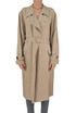 Viscose and linen trench coat Jil Sander