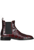 Crocodile print leather Beatles ankle boots Alberto Gozzi