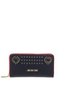 Studded eco-leather wallet Love Moschino