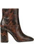 Jade reptile print leather ankle-boots Ash