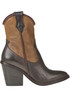 Leather texan ankle-boots Salvador Ribes