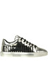 Sneakers in pelle metallizzata Moschino Couture